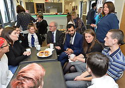 Justice Secretary Humza Yousaf, Communities Secretary Aileen Campbell and Lord Advocate James Wolffe QC get the views of school children at the launch the consultation in Edinburgh.<br /> <br /> © Dave Johnston / EEm