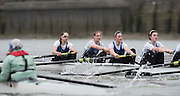 Putney, Great Britain.  CUBC, left during the 2015 Pre Boat Race Fixture, Cambridge University Women's Boat Club vs Imperial College Women's Boat Club, Championship Course, River Thames.  England. <br /> {DOW{  {DATE}<br /> <br /> [Mandatory Credit; Peter Spurrier/Intersport-images]<br /> Crews: CUWBC:<br /> b) Hannah Evans, 2) Ashton Brown, 3) Caroline Reid*, 4) Claire Watkins*, 5) Melissa Wilson*, 6) Holly Hill, 7) Hannah Roberts, stroke, Fanny Belais and Cox, Rosemary Ostfeld.<br /> <br /> ICBC:<br /> left to right; Bow Sara PARFETT, 2. Jo THOM, 3. Victoria WATTS, 4. Georgina FRANCIS,