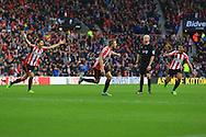 Sebastian Larsson of Sunderland celebrates his opening goal - Sunderland vs. Everton - Barclay's Premier League - Stadium of Light - Sunderland - 09/11/2014 Pic Philip Oldham/Sportimage