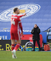 Football - 2020 / 2021 Premier League - Leicester City vs Liverpool - King Power Stadium<br /> <br /> Leicester City manager Brendan Rodgers looks on.<br /> <br /> COLORSPORT/ASHLEY WESTERN