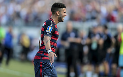 July 8, 2017 - Nashville, TN, USA - Nashville, TN - Saturday July 08, 2017: Dom Dwyer scores a goal during a 2017 Gold Cup match between the men's national teams of the United States (USA) and Panama (PAN) at Nissan Stadium. (Credit Image: © John Dorton/ISIPhotos via ZUMA Wire)
