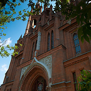 Roman Catholic gothic church of the Sacred Heart of Jesus in Samara, Russia