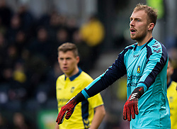Marvin Schwäbe (Brøndby IF) under kampen i 3F Superligaen mellem Brøndby IF og Lyngby Boldklub den 1. marts 2020 på Brøndby Stadion (Foto: Claus Birch).