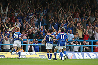 Photo: Pete Lorence.<br />Chesterfield Town v Wycombe Wanderers. Coca Cola League 2. 01/09/2007.<br />Jack Lester celebrates extending Chesterfield's lead.