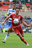 Middlesbrough striker Kike on the ball during the Sky Bet Championship match between Reading and Middlesbrough at the Madejski Stadium, Reading, England on 3 October 2015. Photo by Alan Franklin.