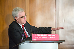 "@Licensed to London News Pictures 16/03/2019. Gravesend, UK. The Shadow Chancellor, Mr John McDonnell MP attends the one day conference at the Old Town Hall in Gravesend today where he will be setting out plans for the Labour Party's ""Road to Rebuilding the Economy"" plans.Photo credit: Manu Palomeque/LNP"