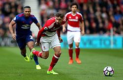 Gaston Ramirez of Middlesbrough runs with the ball - Mandatory by-line: Robbie Stephenson/JMP - 19/03/2017 - FOOTBALL - Riverside Stadium - Middlesbrough, England - Middlesbrough v Manchester United - Premier League