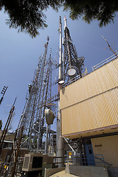 TV and Communications Towers at Mount Wilson CA in the Angeles National Forest. In view, Mount Wilson Post Office.
