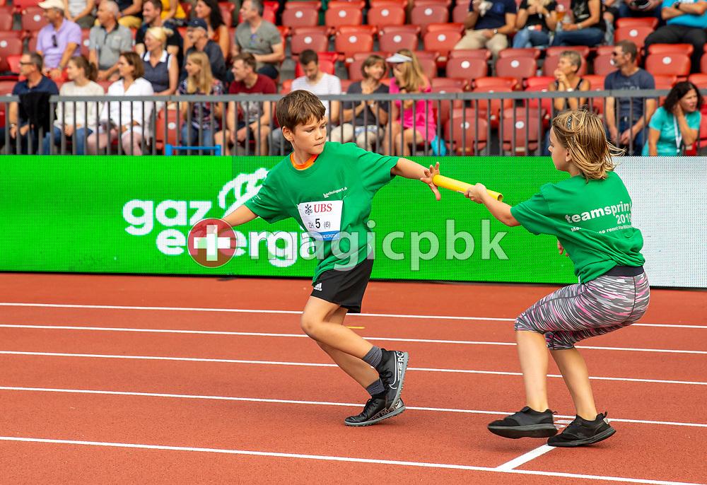 Girls+Boys Relay during the Iaaf Diamond League meeting (Weltklasse Zuerich) at the Letzigrund Stadium in Zurich, Switzerland, Thursday, Aug. 29, 2019. (Photo by Patrick B. Kraemer / MAGICPBK)