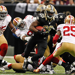 November 25, 2012; New Orleans, LA, USA; New Orleans Saints running back Chris Ivory (29) runs against the San Francisco 49ers during the second half of a game at the Mercedes-Benz Superdome. The 49ers defeated the Saints 31-21. Mandatory Credit: Derick E. Hingle-US PRESSWIRE