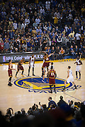 The Golden State Warriors take on the Cleveland Cavaliers at Oracle Arena in Oakland, Calif., on January 16, 2017. (Stan Olszewski/Special to S.F. Examiner)