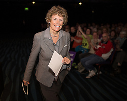 """© Licensed to London News Pictures . 25/05/2016 . Bolton , UK . KATE HOEY takes to the stage to speak . Nigel Farage , Kate Hoey and Paul Nuttall at a """" We Want Our Country Back """" public meeting in favour of the UK leaving the EU at the Premier Suite of Bolton Wanderers' Macron Stadium . Photo credit : Joel Goodman/LNP"""