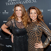 NLD/Amsterdam/20190124 - Inloop 25-jarig jubileum Talkies Magazine NL., zangeres Sandy Kandau en ..........