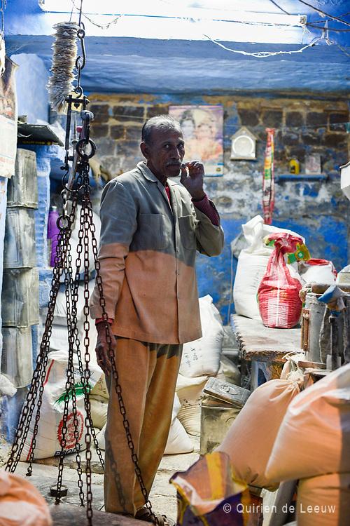 Man posing at a bakery store in Jodhpur
