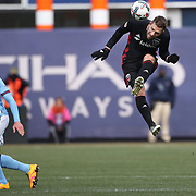 NEW YORK, NEW YORK - March 12:  Patrick Mullins #16 of D.C. United during the NYCFC Vs D.C. United regular season MLS game at Yankee Stadium on March 12, 2017 in New York City. (Photo by Tim Clayton/Corbis via Getty Images)