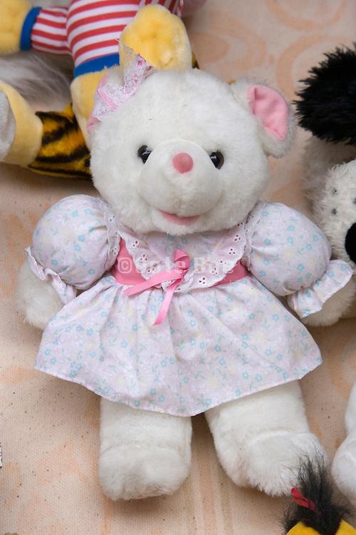 teddy bear displayed at a flee market