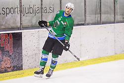Koren Gal of HK SZ Olimpija during ice hockey match between  HK SZ Olimpija and HDD SIJ Acroni Jesenice in 23rd Round of AHL - Alps Hockey League 2017/18, on December 16, 2017 in Hala Tivoli, Ljubljana, Slovenia. Photo by Vid Ponikvar / Sportida