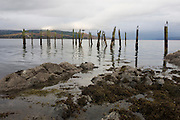 Disused wooden piles at Salen Pier, Salen, Isle of Mull, Scotland. Salen (Scottish Gaelic: An t-Sàilean) is a settlement on the Isle of Mull, Scotland. It is on the east coast of the island, on the Sound of Mull, approximately halfway between Craignure and Tobermory. The full name of the settlement is 'Sàilean Dubh Chaluim Chille' (the black little bay of St Columba).