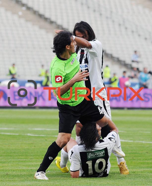 Konyaspor's Zafer DEMIR (C) during their Turkish soccer Play Off final match Altayspor between Konyaspor at Ataturk Olympic Stadium in Istanbul Turkey on Sunday, 23 May 2010. Photo by TURKPIX