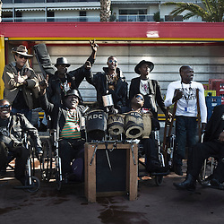Congolese Staff Benda Bilili band at the 63rd Cannes Film Festival. France. May 2010. Photo: Antoine Doyen