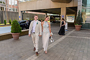 Isaac Rivener and Sky Keown arrive at the Fairdale High School prom at the Muhammad Ali Center on Saturday, May 18.
