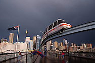 Monorail near City