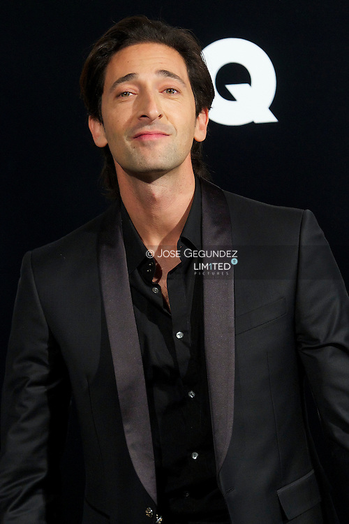 Adrien Brody attends 'GQ Men of the Year 2012' awards on November 19, 2012 in Madrid, Spain.