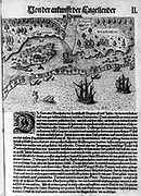 The Colony of Virginia depicted in a book with Map. 17th Century.