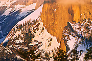 The Northwest Face of Half Dome in winter, Yosemite National Park, California
