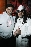 l to r: Cool DJ Red Alert and Melly Mel at The OkayPlayer Hoiliday Jammy presented by OkayPlayer and Frank Magazine held at BB Kings on December 18, 2008 in New York City..The Legendary Roots Crew gives back to fans with All-Star line-up of Special Guests to celebrate upcoming Holiday Season.