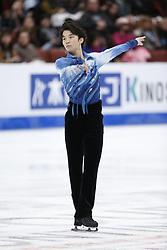 February 7, 2019 - Los Angeles, California, U.S - Kazuki Tomono of Japan competes in the Men Short Program during the ISU Four Continents Figure Skating Championship at the Honda Center in Anaheim, California on February 7, 2019. (Credit Image: © Ringo Chiu/ZUMA Wire)
