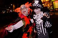 People celebrating, Halloween, , London. Britain.