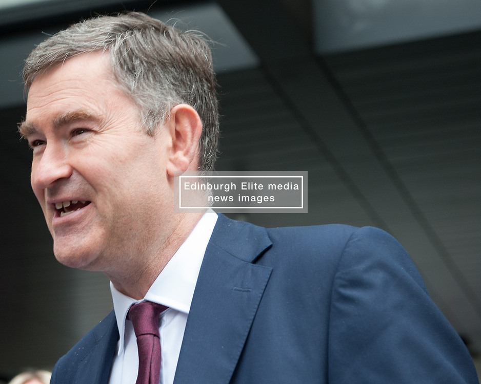 David Gauke, Member of Parliament for South West Hertfordshire, Lord Chancellor and Secretary of State for Justice leaves the BBC after appearing on the Andrew Marr show. <br /> <br /> Richard Hancox | EEm 07072019