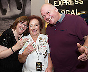 03/11/2016 Repro fee: Rita Gilligan's book The Rock 'n' Roll Waitress from The Hard Rock Cafe My Life by Rita Gilligan  in Hotel Meyrick, Galway was launched my Cllr. Noel Larkin Mayor of Galway. At the launch were Caroline and Eugene Kelly from Leitrim  with the author Rita Gilligan   Photo :Andrew Downes, XPOSURE