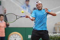Lucas Pouille on day five of The Roland Garros 2019 French Open tennis tournament in Paris, France on May 30, 2019. Photo by ABACAPRESS.COM, Roland Garros French Open Day 5, in Paris, France. ©Ciol/ABACAPRESS
