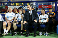 Rafa Benitez, the Newcastle United manager looks on from the dugout before k/o. EFL Skybet football league championship match, Queens Park Rangers v Newcastle Utd at Loftus Road Stadium in London on Tuesday 13th September 2016.<br /> pic by John Patrick Fletcher, Andrew Orchard sports photography.