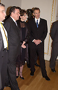 Norman Rosenthall, Rt hon Tony Blair MP, Cherie Blair and Chancellor Gerhard Schroder open Masterpieces from Dresden at the Royal Academy, London. 12 March 2003. © Copyright Photograph by Dafydd Jones 66 Stockwell Park Rd. London SW9 0DA Tel 020 7733 0108 www.dafjones.com