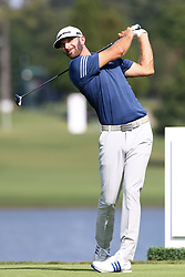 September 22, 2017 - Atlanta, Georgia, United States - Dustin Johnson tees off the 16th hole during the second round of the TOUR Championship at the East Lake Club. (Credit Image: © Debby Wong via ZUMA Wire)