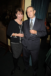 DAN TOPOLSKI and his wife SUZY at a reception to support The Hyde Park Appeal held in the officers Mess, Household Cavalry Mounted Regiment, Hyde Park Barracks, London SW1 on 10th November 2008.