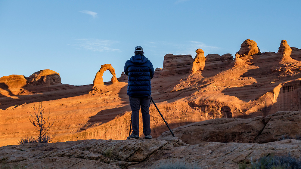 Setting up for some sunset shots before the Supermoon.