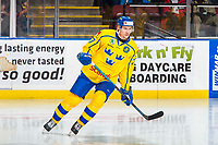 KELOWNA, BC - DECEMBER 18:  David Gustafsson #27 of Team Sweden skates against the Team Russia at Prospera Place on December 18, 2018 in Kelowna, Canada. (Photo by Marissa Baecker/Getty Images)***Local Caption***