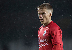 Andreas Smed (FC Helsingør) under kampen i 1. Division mellem Fremad Amager og FC Helsingør den 21. oktober 2020 i Sundby Idrætspark (Foto: Claus Birch).