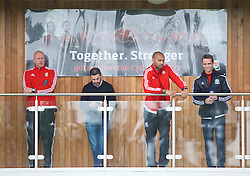 NEWPORT, WALES - Sunday, May 22, 2016: Cameron Toshack, Thierry Henry and Ryan Alexander during the Football Association of Wales' National Coaches Conference 2016 at Dragon Park FAW National Development Centre. (Pic by David Rawcliffe/Propaganda)