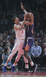 November 28, 2018 - Los Angeles, California, U.S - Danilo Gallinari #8 of the Los Angeles Clippers takes a shot during their NBA game with the Phoenix Suns on Wednesday November 28, 2018 at the Staples Center in Los Angeles, California. Clippers vs Suns. (Credit Image: © Prensa Internacional via ZUMA Wire)