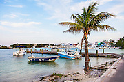A view of New Plymouth harbor on Green Turtle Cay, Bahamas.