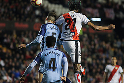 March 1, 2019 - Madrid, Madrid, Spain - A. Ba of Rayo Vallecano and Alcala of Girona in action during La Liga Spanish championship, , football match between Rayo Vallecano and Girona , March 01th, in Estadio de Vallecas in Madrid, Spain. (Credit Image: © AFP7 via ZUMA Wire)