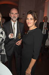 CHRISTOPHER LE BRUN President of the RA and TRACEY EMIN at a dinner to celebrate Sir David Tang's 20 year patronage of the Royal Academy of Arts and the start of building work on the Burlington Gardens wing of the Royal Academy held at 6 Burlington Gardens, London on 26th October 2015.