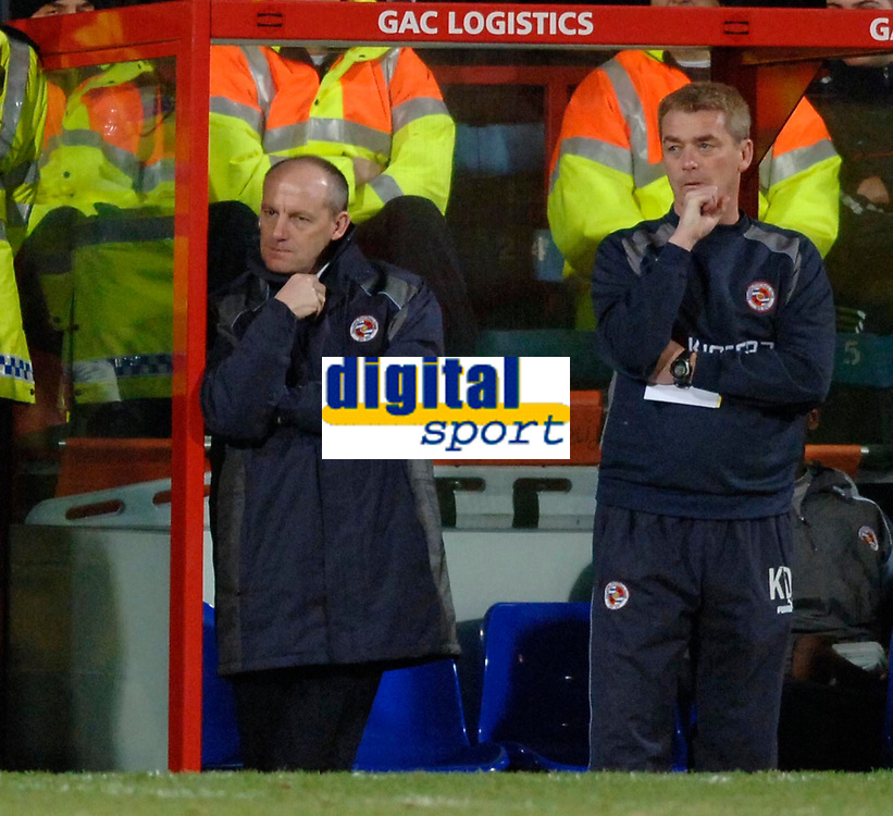 Photo: Daniel Hambury.<br />Crystal Palace v Reading. Coca Cola Championship.<br />20/01/2006.<br />Reading's manager Steve Coppell (L) and assistant Kevin Dillon look on during the match.
