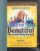 Poster advert 'Beautiful the Carole King Musical', Ipswich Regent Theatre, Ipswich, Suffolk, England, UK