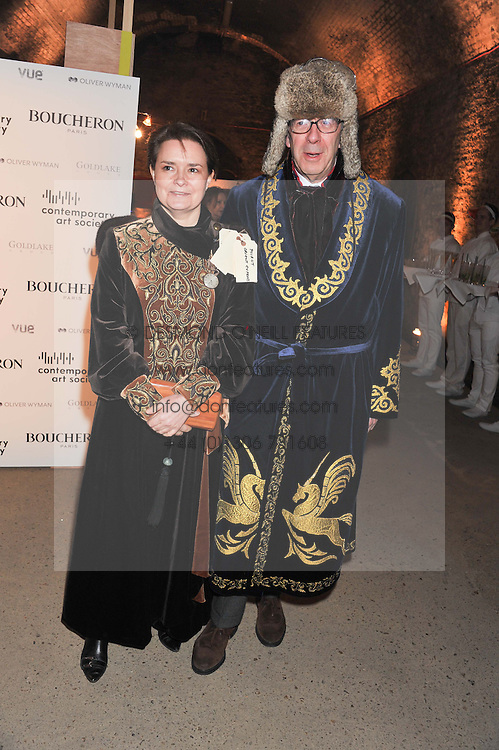 STEPHEN SOMERVILLE and SARA PIERCE at Wanderlust - the Contemporary Art Society Annual Fundraising Gala held at Old Vic Tunnels, London on 13th March 2013.